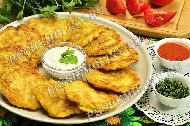 оладьи из кабачков с сыром рецепт